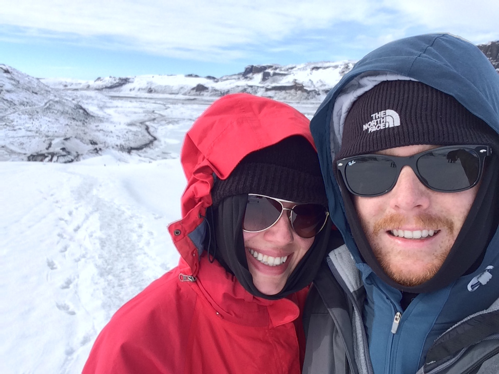 Devin and Rachel in Iceland